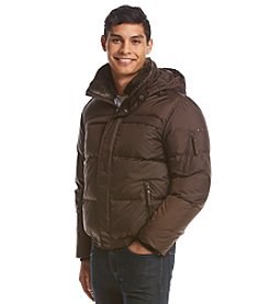 Andrew Marc® Men's Faux Fur Down Jacket