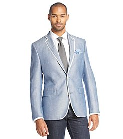 Tallia Orange Men's Herringbone Sportcoat