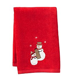 Saturday Knight, Ltd.® Sleigh Ride Snowman Hand Towel