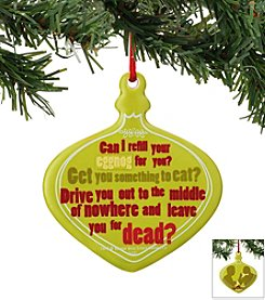 Department 56® Leave You Sentiment Ornament