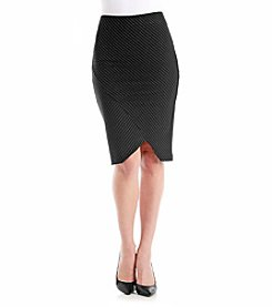 Boom Boom Asymmetrical Pinstripe Skirt