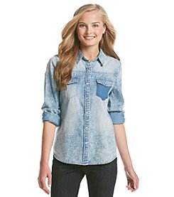 Hippie Laundry Chambray Shirt With Pockets
