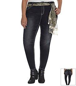 Wallflower® Plus Size Camo Sash Skinny Jeans
