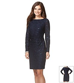 Chaps® Sequined-Lace Dress