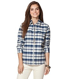 Chaps® Plaid Full-Zip Workshirt