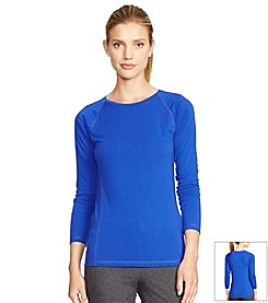Lauren Active® Long-Sleeve Crew Neck Tee