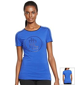 Lauren Active® Stretch-Cotton Rhinestone Shirt