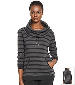 Lauren Active® Waffle-Knit Cowl Neck Pullover Top