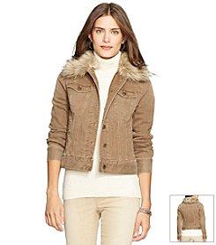 Lauren Jeans Co.® Faux-Shearling Denim Jacket