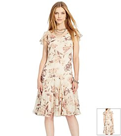Lauren Ralph Lauren® Dropped-Waist Floral Dress