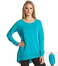 Calvin Klein Performance Distressed Fleece Tunic