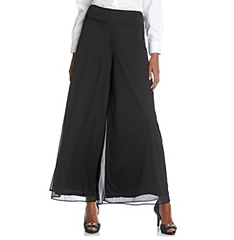 MSK® Chiffon Palazzo Pants plus size,  plus size fashion plus size appare