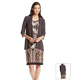 R&M Richards® Petites' Patterned Jacket Dress