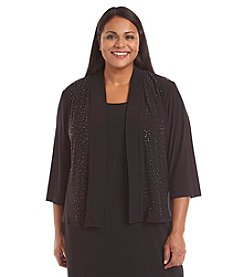 R&M Richards® Plus Size Beaded Shrug