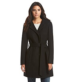 Anne Klein® Hooded Belt Coat