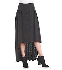 ruff hewn GREY Smocked Skirt