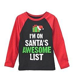 Ruff Hewn Boys' 2T-7 Long Sleeve I'm On Santa's Awesome List Tee