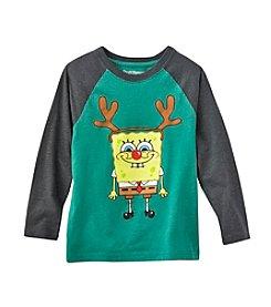 Ruff Hewn Boys' 2T-7 Spongebob The Red Nosed Reindeer Long Sleeve Tee