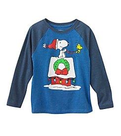 Ruff Hewn Boys' 2T-7 Snoopy Holiday Red Baron Long Sleeve Tee
