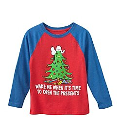 Ruff Hewn Boys' 2T-7 Snoopy Time To Open Presents Long Sleeve Tee