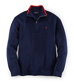 Ralph Lauren Childrenswear Boys' 8-20 Solid Quarter Zip Pullover