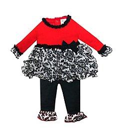 Baby Essentials® Baby Girls' 3-12M Ruffle Tutu Top Set