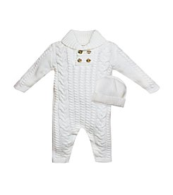 Wendy Bellissimo® Baby Boys' 3-9M Knit Sweater Coverall With Hat