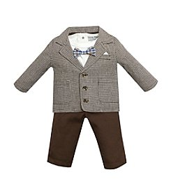 Wendy Bellissimo® Baby Boys' 3-12M Houndstooth Jacket And Pant Set