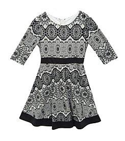 Rare Editions® Girls' 7-16 Circular Geo Lace Dress