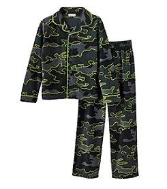 Komar Kids® Boys' 4-18 Camo Print Coat Front Pj Set