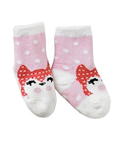 Miss Attitude Girls' Fox Crew Slipper Socks