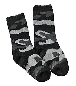 Statements Boys' Camo Crew Slipper Socks