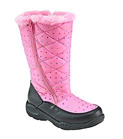 Sporto® Girls' Dot Zipper Fur Boots