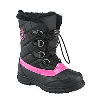 Sporto® Girls' Laceup Fur Boots