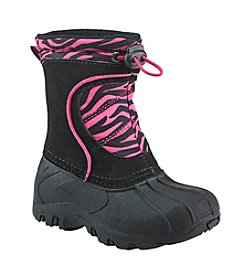 Sporto® Girls' Zebra Stripe Winter Boots