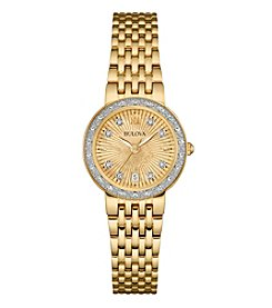 Bulova® Women's Goldtone Diamond Watch