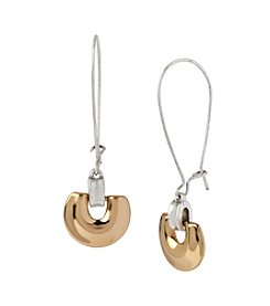 Robert Lee Morris Soho™ Two-Tone Geometric Long Drop Earrings