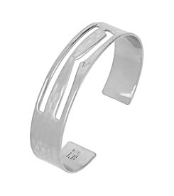 Robert Lee Morris Soho™ R Initial Cut-Out Silvertone Cuff Bracelet