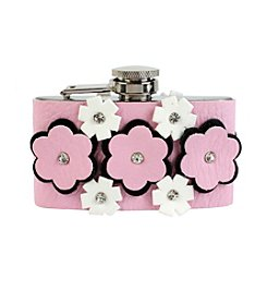 Betsey Johnson® Mixed Flower Pink Flask