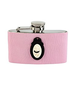 Betsey Johnson® Bulldog Cameo Pink Flask