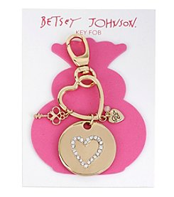 Betsey Johnson® Pave Heart Key Fob