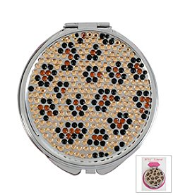 Betsey Johnson® Leopard Crystal Bling Mirror Compact