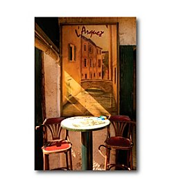 Courtside Market Bistro Table Canvas Art