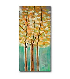 Courtside Market Modern Teal Trees I Art