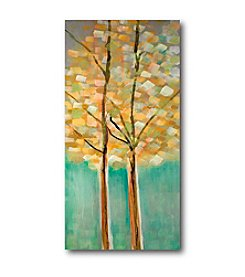 Courtside Market Modern Teal Trees II Art