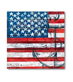 Courtside Market American Flag Anchor Art