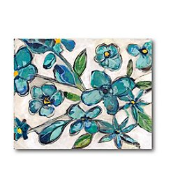 Courtside Market Aqua Floral I Art
