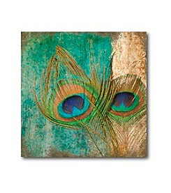 Courtside Market Peacock Feather Abstract I Art