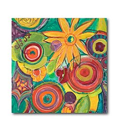 Courtside Market Colorful Square Flowers I Art