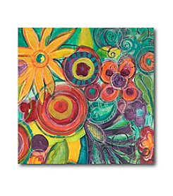 Courtside Market Colorful Square Flowers II Art